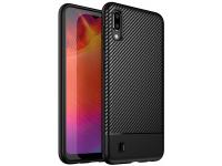 Husa TPU OEM Lewei Carbon Fiber pentru Samsung Galaxy M10, Neagra, Bulk