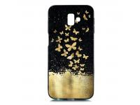 Husa TPU OEM Gold Butterfly pentru Samsung J6 Plus (2018) J610, Multicolor, Bulk