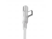 Cablu Date si Incarcare USB la USB Type-C Joyroom S-M392 Baige LED Light Game, 1.2 m, Alb, Blister
