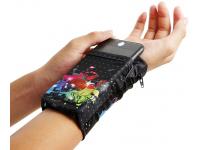 Husa OEM Wrist Pack Color Butterfly pentru Telefon 5.5 inci, Dimensiuni interioare 150 x 70 mm, Multicolor, Bulk