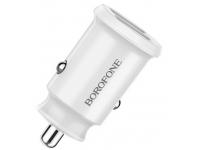 Incarcator Auto USB Borofone BZ8 Fast Charging 2.4A, 2 X USB, Alb, Blister