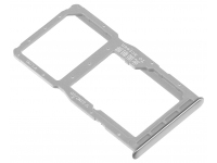 Suport Card / SIM 2 - Suport SIM 1 Argintiu Huawei P30 lite