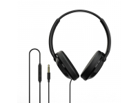 Handsfree Casti Over-Ear Borofone BO1, Cu microfon, 3.5 mm, Negru, Blister