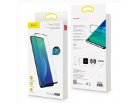 Folie Protectie Ecran Baseus pentru Samsung Galaxy S10+ G975, Plastic, Full Cover, Set 2buc, 3D Anti-Blue Light, 0.15mm, Neagra, Blister SGSAS10P-KS01
