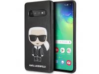 Husa Plastic - TPU Karl Lagerfeld Ikonik Full Body pentru Samsung Galaxy S10 G973, Neagra, Blister KLHCS10IKPUBK