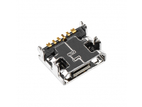 Conector Incarcare / Date MicroUSB, cu 4 picioruse prindere, 6 pini OEM