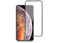 Folie Protectie Ecran Mocolo pentru Apple iPhone XS / Apple iPhone X, Sticla securizata, Full Face, Full Glue, Neagra, Blister