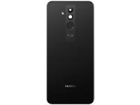 Capac Baterie Negru cu geam camera blitz si senzor amprenta, Swap Huawei Mate 20 Lite