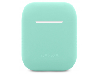 Husa Silicon Usams Ultra Thin pentru  Airpods 1 / 2 BH503 Turquoise Blister