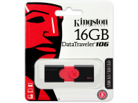 Memorie Externa Kingston, USB 2.0 - USB 3.0 - USB 3.1, 16Gb, Neagra - Rosie, Blister DT106/16GB