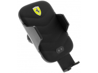 Incarcator Auto Wireless Ferrari, Fast Charge, 10W, Negru, Blister FECCWLPDBL