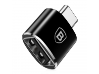 Adaptor OTG USB la USB Type-C Baseus CATOTG-01, Negru, Blister