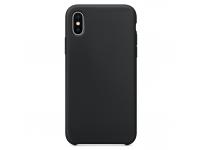 Husa TPU OEM Pure Silicone pentru Apple iPhone X / Apple iPhone XS, Neagra, Blister