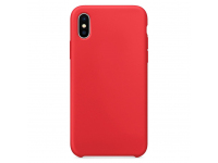 Husa TPU OEM Pure Silicone pentru Apple iPhone X / Apple iPhone XS, Rosie, Blister