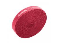 Banda Baseus Rainbow Velcro pentru organizare cabluri, 3m, Rosie ACMGT-F09