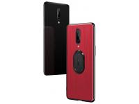 Husa Plastic - TPU Londor Holder pentru OnePlus 7 Pro, Rosie, Bulk