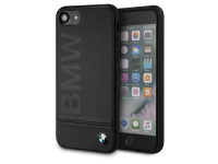 Husa Piele BMW pentru Apple iPhone 7 / Apple iPhone 8, Neagra BMHCI8LLSB