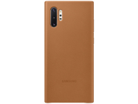 Husa Piele Samsung Galaxy Note 10+ N975 / Note 10+ 5G N976, Leather Cover, Camel EF-VN975LAEGWW