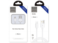 Cablu Date si Incarcare USB la Lightning Joyroom JR-S113, Ben Series, 2A, Quick Charging, 0.25 m, Alb, Blister