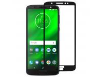 Folie Protectie Ecran OEM Motorola Moto G6 Plus, Sticla securizata, Full Face, Full Glue, 9H, Neagra, Blister