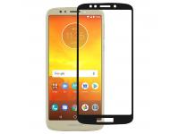 Folie Protectie Ecran OEM Motorola Moto E5, Sticla securizata, Full Face, Full Glue, 9H, Neagra, Blister