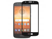 Folie Protectie Ecran OEM Motorola Moto E5 Play, Sticla securizata, Full Face, Full Glue, 9H, Neagra, Blister