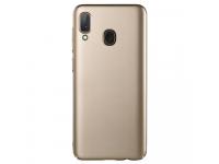 Husa Plastic Lenuo Leshield Slim pentru Samsung Galaxy A20e, Aurie, Blister