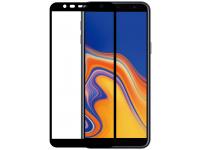 Folie Protectie Ecran OEM Samsung J4 Plus (2018) J415 / Samsung J6 Plus (2018) J610, Sticla securizata, Full Face, Full Glue, 9H, Neagra, Blister