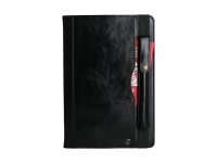 Husa Tableta Piele OEM Crazy Horse pentru Samsung Galaxy Tab S 10.5, Neagra, Bulk