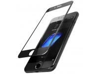 Folie Protectie Ecran Mietubl Apple iPhone 6 / Apple iPhone 6s, Sticla securizata, Full Face, Full Glue, 11D, Scratchproof, Neagra, Blister