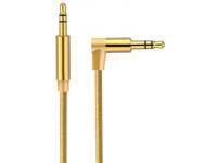Cablu Audio 3.5 mm la 3.5 mm OEM AV01, Elbow, 3 m, Auriu, Bulk