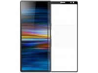 Folie Protectie Ecran Pinwuyo pentru Sony Xperia 10 Plus, Sticla securizata, Full Face, Neagra, Blister
