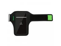 Husa Sport Baseus Wristband pentru telefoane 5 inch, Neagra Verde, Blister CWYD-A06
