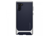 Husa Plastic - TPU Spigen Neo Hybrid pentru Samsung Galaxy Note 10 N970, Argintie - Bleumarin, Blister 628CS27384