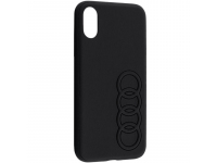 Husa Piele AUDI pentru Apple iPhone XS Max, Neagra, Blister AU-TPUPCIPXSM-TT/D1-BK