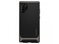 Husa Plastic - TPU Spigen Neo Hybrid Gun Metal pentru Samsung Galaxy Note 10+ N975, Gri - Neagra, Blister 627CS27339