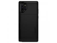 Husa Plastic - TPU Spigen Slim Armor CS pentru Samsung Galaxy Note 10+ N975, Neagra, Blister 627CS27342