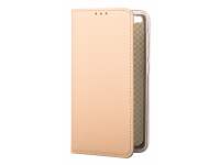 Husa Piele OEM Smart Magnet pentru Huawei P20 Lite, Aurie, Bulk