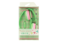 Handsfree Casti On-Ear CASNI CS12, Cu microfon, 3.5 mm, Verde, Blister