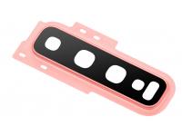 Geam Camera Spate Cu rama Roz (Flamingo Pink) Samsung Galaxy S10+ G975