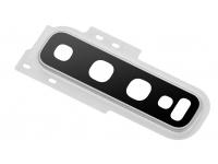 Geam Camera Spate Cu rama Argintie (Prism White) Samsung Galaxy S10+ G975