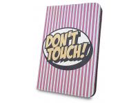 Husa Poliuretan GreenGo Don't touch pentru Tableta 10 inci - 9 inci, Roz, Bulk