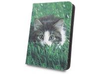 Husa Poliuretan GreenGo Kitty pentru Tableta 10 inci - 9 inci, Verde, Bulk