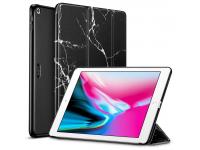 Husa Tableta Plastic - Poliuretan ESR Marble pentru Apple iPad 9.7 (2018) / Apple iPad 9.7 (2017), Neagra, Blister