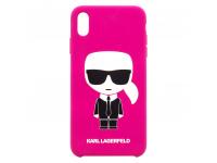 Husa TPU Karl Lagerfeld Ikonik Body pentru Apple iPhone X / Apple iPhone XS, Ciclam, Blister KLHCPXSLFKFU