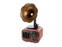 Difuzor portabil Bluetooth B7 Retro Gramophone, Cu Radio / USB/ Slot Card / AUX, Maro Inchis, Blister
