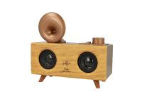 Difuzor portabil Bluetooth B6 Retro Gramophone, Cu Radio / USB/ Slot Card / AUX, Maro Deschis, Blister