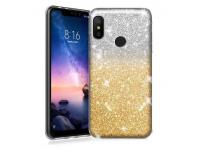 Husa TPU OEM Glitter pentru Samsung Galaxy A10 A105, Aurie, Bulk
