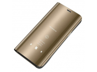 Husa Plastic OEM Clear View pentru Samsung Galaxy A40 A405, Aurie, Blister