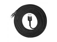 Cablu Date si Incarcare USB la USB Type-C Baseus Cafule, 2A, 3 m, Gri - Negru, Blister CATKLF-UG1
